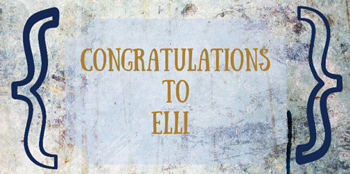 Congratulations to Elli